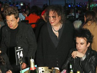 LONDON, ENGLAND - FEBRUARY 12: (L to R) Jason Cooper, Robert Smith and Simon Gallup of The Cure attend The NME Awards 2020 at the O2 Academy Brixton on February 12, 2020 in London, England.  (Photo by David M. Benett/Dave Benett/Getty Images)